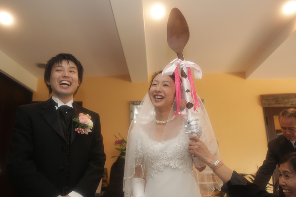 桜咲く春の結婚式