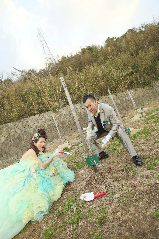 二人が出会った想い出の場所で結婚式