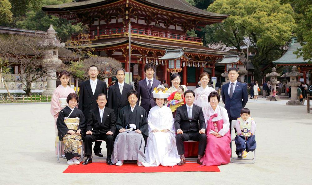 国際結婚のお二人が挙げた本格神社挙式