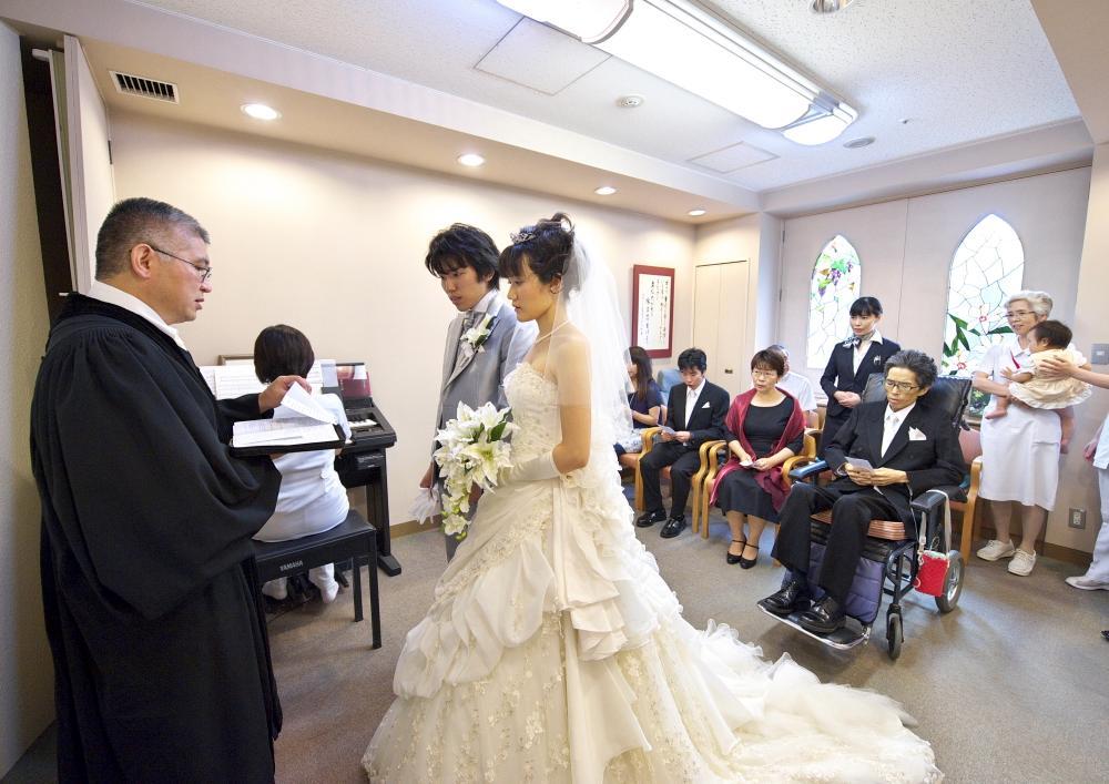 病院での結婚式
