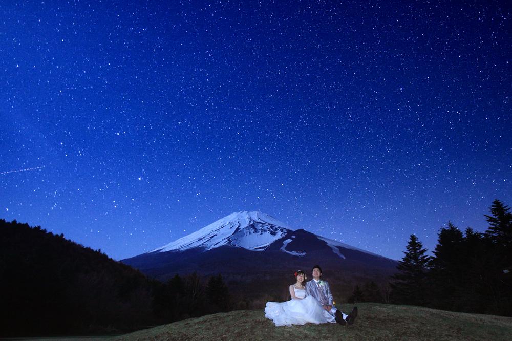 ロケーション撮影(富士山と星空)