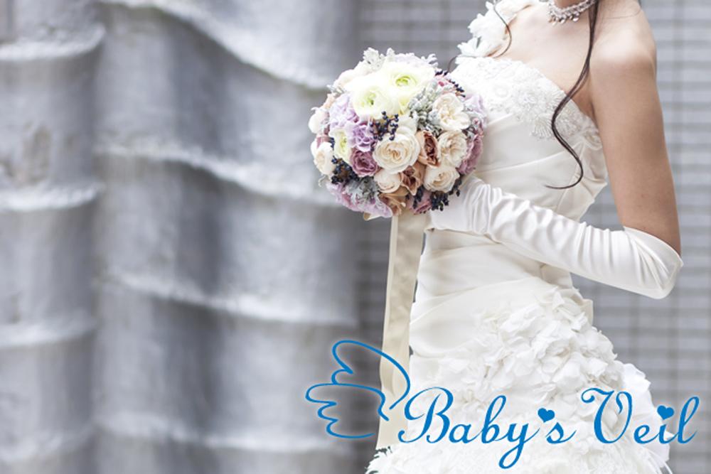 日本初 マタニティー専門ブーケ「Baby's veil」誕生