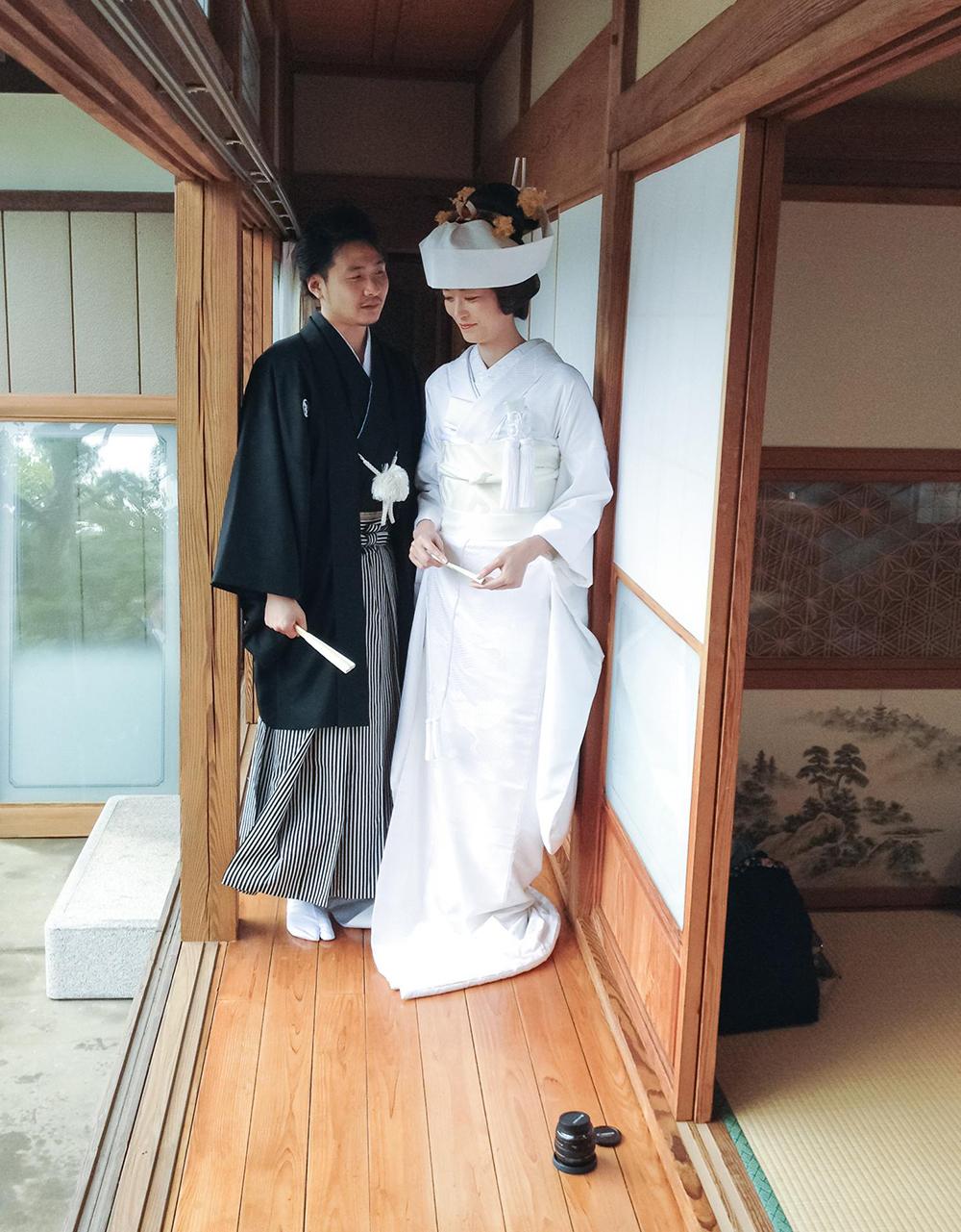ご家族に見守られながら自宅で花嫁になる喜びの日