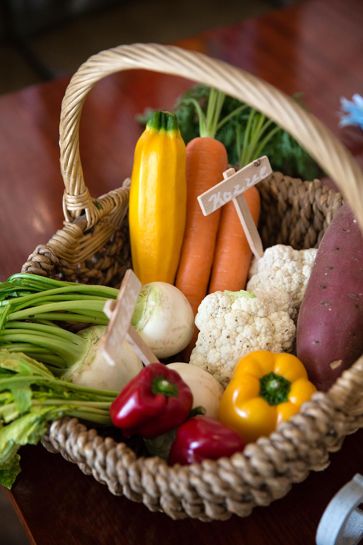 ふたりで育てた野菜でおもてなし風を感じるファームウエディング