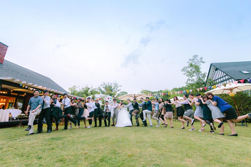 「結婚式だよ!? 全員集合!」