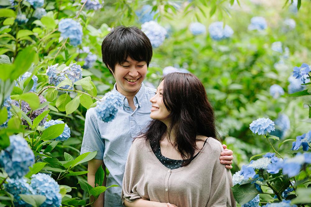 【紫陽花の季節に鎌倉でエンゲージメントフォト】