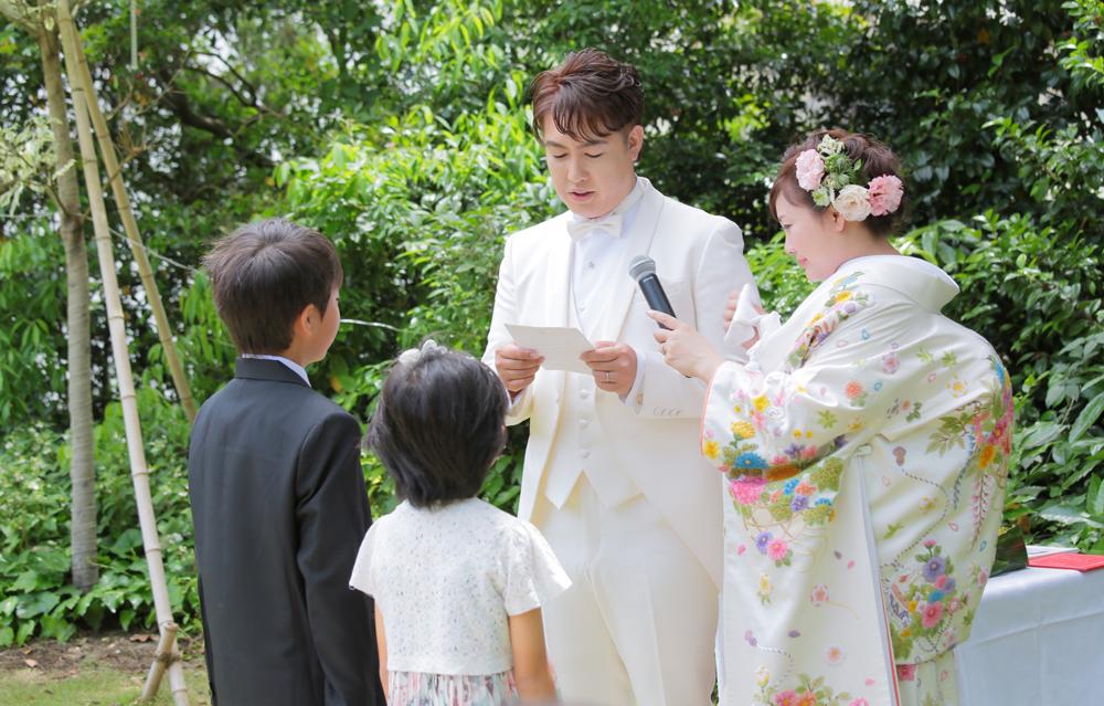 家族の絆を大切にお子様と一緒につくり上げた結婚式