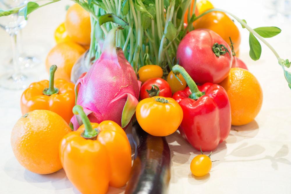 野菜と果物で空間演出するベジフルデコレーション・ウェディング!