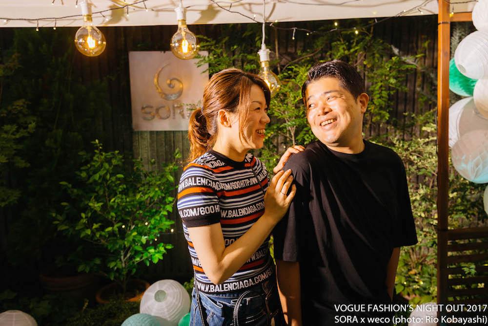 VOGUE FASHION'S NIGHT OUT 2017 SORA × weco