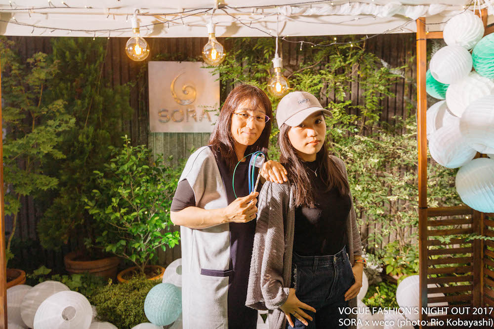 VOGUE FASHION'S NIGHT OUT 2017 SORA × weco