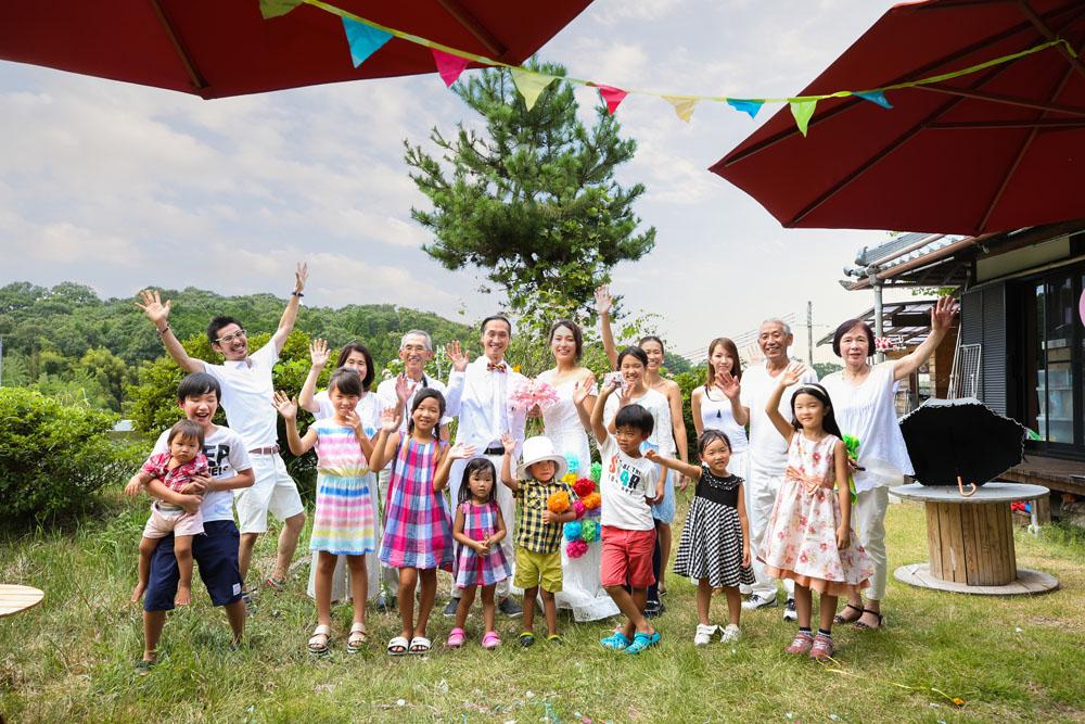 結婚10周年の両親に結婚式をプレゼント! 古民家シェアハウスで開催されたファミリーウェディング